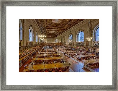 New York Public Library Rose Room  Framed Print by Susan Candelario