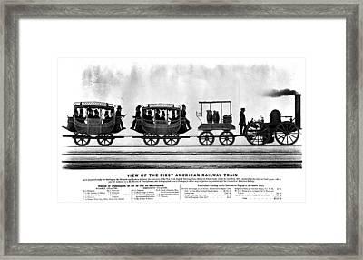 New York Railroad, 1832 Framed Print by Granger