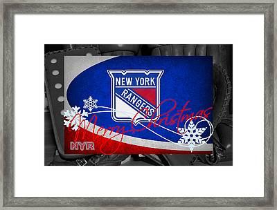 New York Rangers Christmas Framed Print by Joe Hamilton