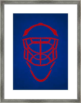 New York Rangers Goalie Mask Framed Print by Joe Hamilton