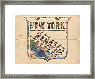 New York Rangers Hockey Poster Framed Print