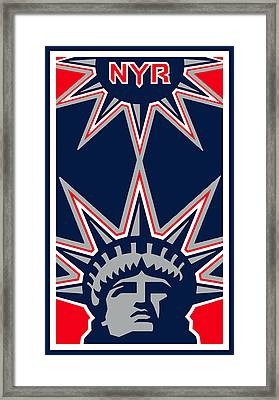 New York Rangers Framed Print by Tony Rubino