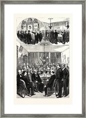 New York Reception Given By The Press Club To Thurlow Weed Framed Print