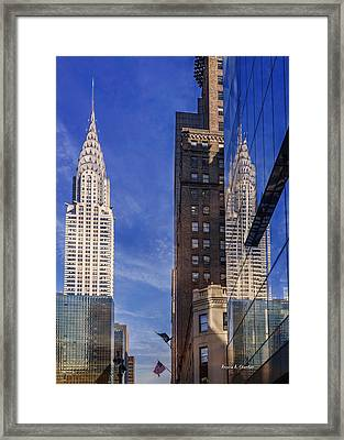 New York Reflections 20 Framed Print by Angela A Stanton