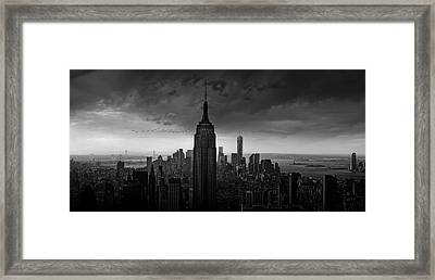 New York Rockefeller View Framed Print by Wim Schuurmans