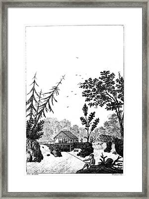 Framed Print featuring the painting New York Saw Mill, 1792 by Granger