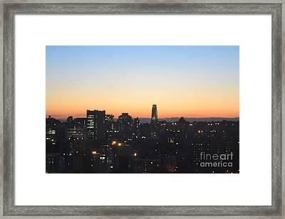 New York Skylight Framed Print