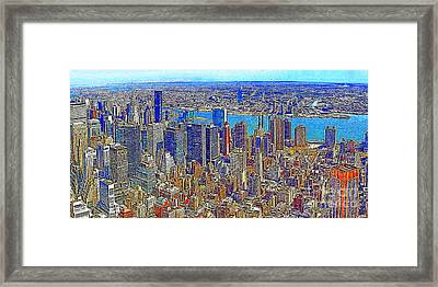 New York Skyline 20130430 Framed Print by Wingsdomain Art and Photography