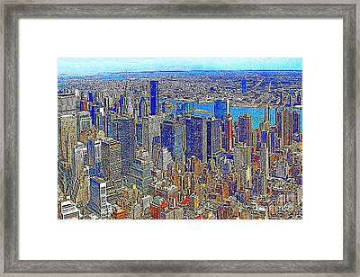 New York Skyline 20130430v3 Framed Print