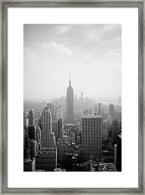 New York Skyline Framed Print by Allan Millora Photography
