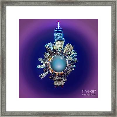 New York Skyline Circagraph Framed Print