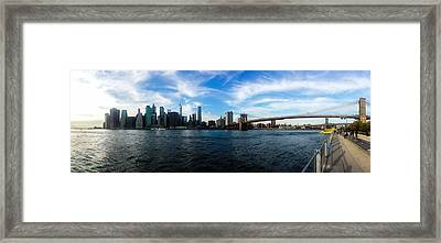 New York Skyline - Color Framed Print by Nicklas Gustafsson