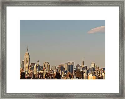 Framed Print featuring the photograph New York City Skyline by Kerri Farley