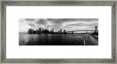 New York Skyline Framed Print by Nicklas Gustafsson