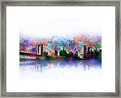 New York Skyline Splats 2 Framed Print