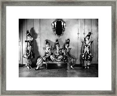 New York Society Members Pose For A Portrait Framed Print