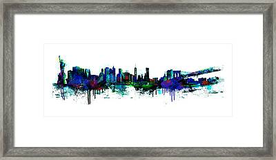 New York Spray Framed Print