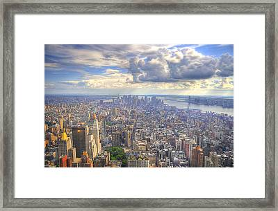 New York State Of Mind Framed Print by Mandy Wiltse