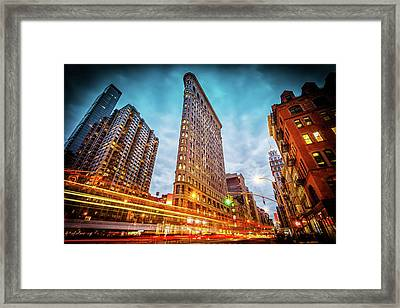 New York State Of Mind Framed Print by Marc Perrella