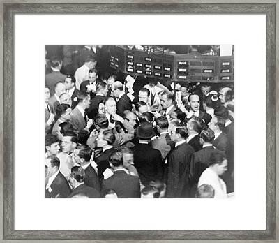 New York Stock Exchange 1936 Framed Print