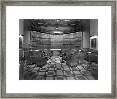 New York Stock Exchange Board Framed Print