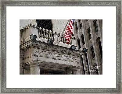 New York Stock Exchange Building Framed Print by Amy Cicconi