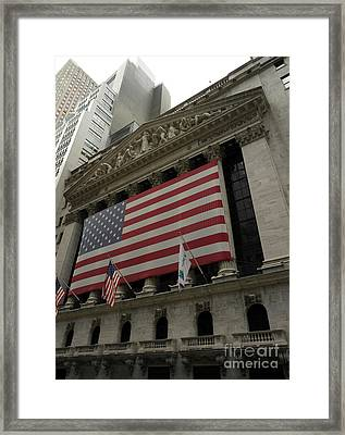 New York Stock Exchange Framed Print by David Bearden