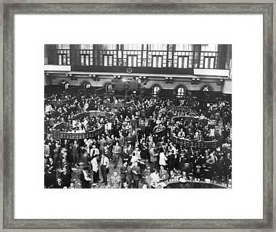 New York Stock Exchange Floor Framed Print by Underwood Archives