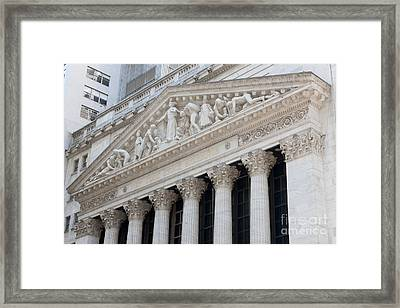New York Stock Exchange I Framed Print by Clarence Holmes