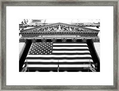 New York Stock Exchange Framed Print by John Rizzuto
