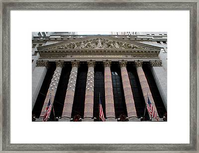 New York Stock Exchange Framed Print by Yue Wang