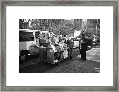 New York Street Photography 5 Framed Print by Frank Romeo