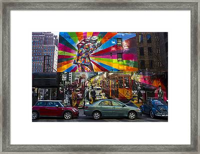 New York Street Scene Framed Print by Garry Gay