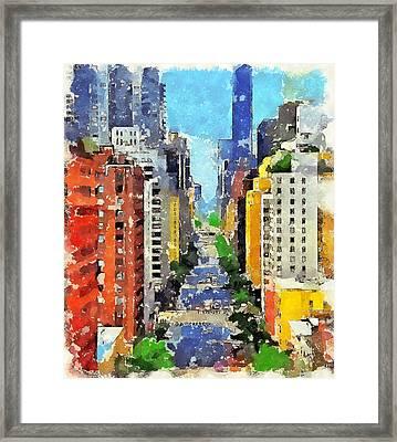 New York Street View Framed Print by Yury Malkov