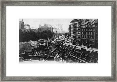 New York Subway Framed Print by Granger