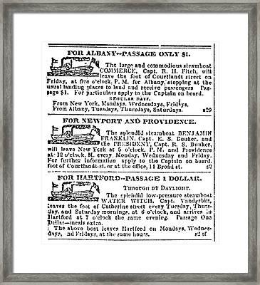 New York Sun, 1833 Framed Print
