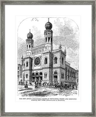 New York Synagogue, 1872 Framed Print by Granger
