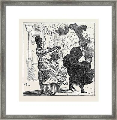 New York The Dust Barrel Nuisance Framed Print by American School