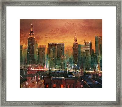 New York The Emerald City Framed Print