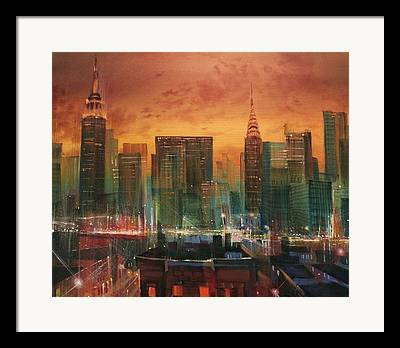 City Scene Framed Prints