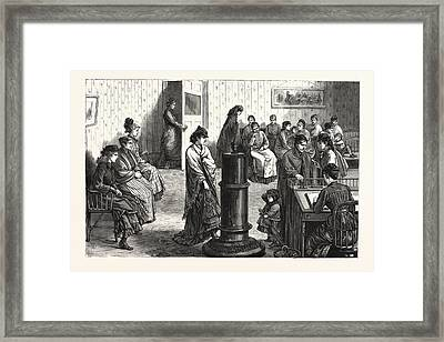 New York The Waiting Room In The Building Framed Print
