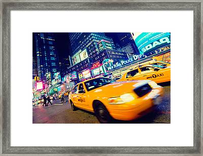 New York - Times Square Framed Print by Alexander Voss