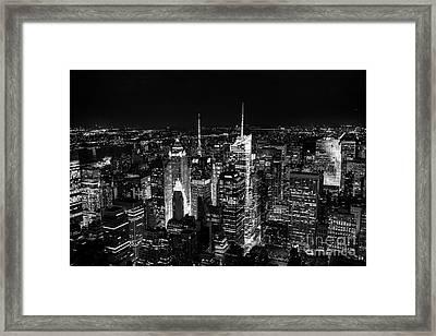 New York Times Square Bw Framed Print