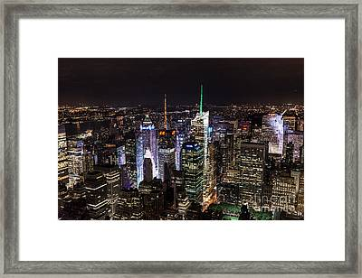 New York Times Square Framed Print by Matt Malloy