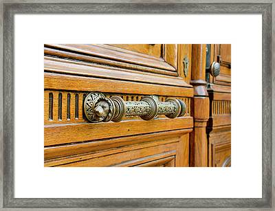 New York, Troy Historic Wooden Doors Framed Print by Cindy Miller Hopkins