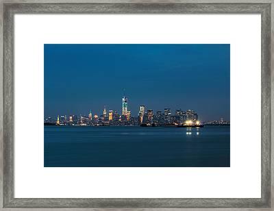 New York Twilight Framed Print