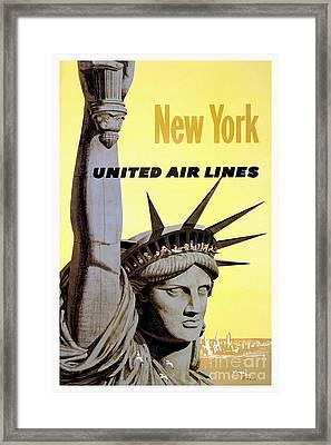 New York Vintage  Travel Poster Framed Print