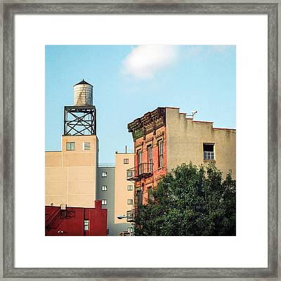 Framed Print featuring the photograph New York Water Tower 3 by Gary Heller