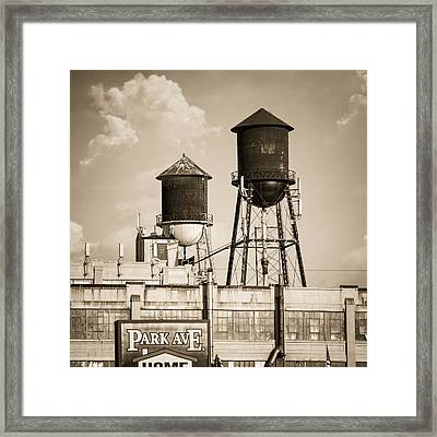 New York Water Tower 8 - Williamsburg Brooklyn Framed Print