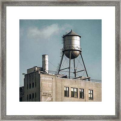 Framed Print featuring the photograph New York Water Towers 10 by Gary Heller